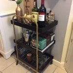 Ikea Cart - Bar Cart Glam Makeover