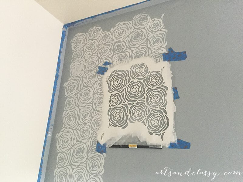 How to use a wall stencil effectively! Learn how to get the look you want at www.artsandclassy.com