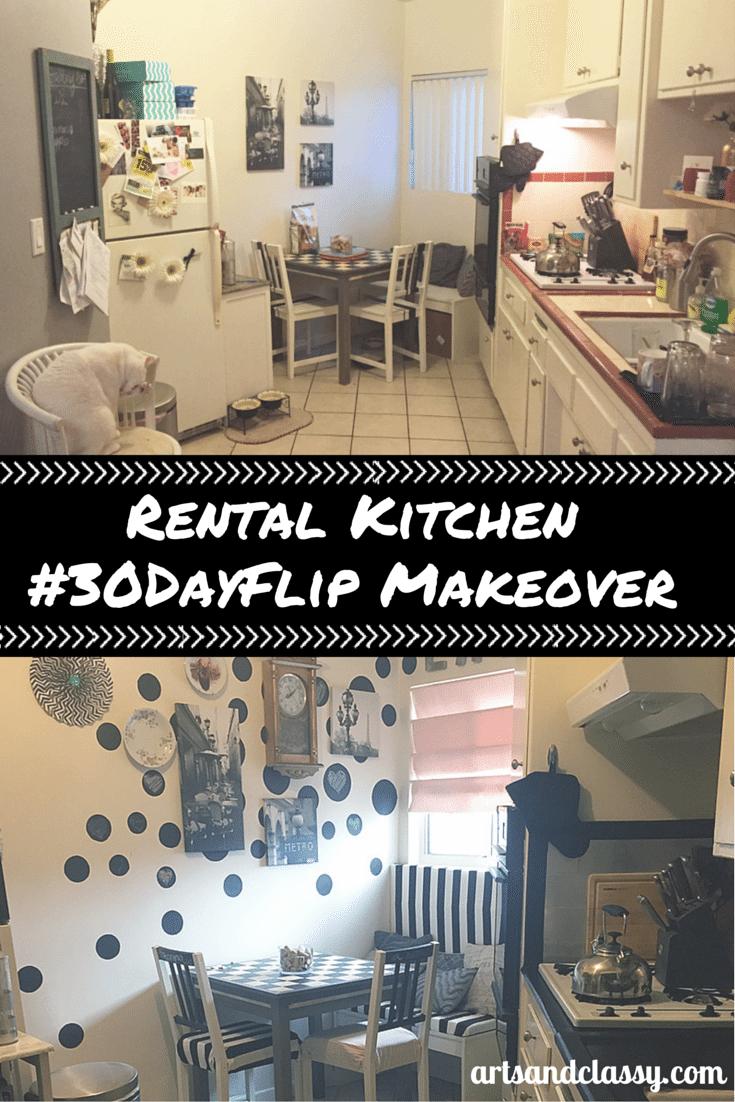 Rental Kitchen #30DayFlip Makeover