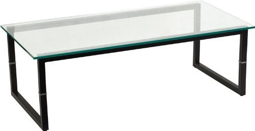 Flash Furniture FD-COFFEE-TABLE-Glass Coffee Table, Clear