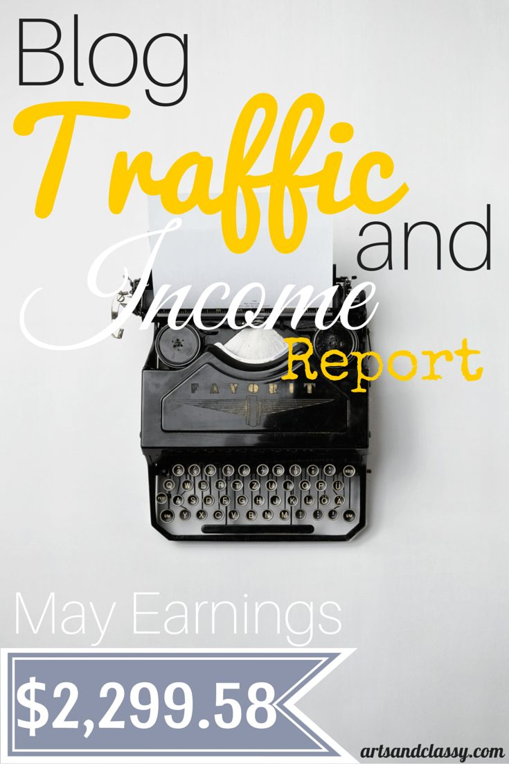 MAY 2015 Blog Traffic and Income Report for www.artsandclassy.com. Learn how I made my income last month.