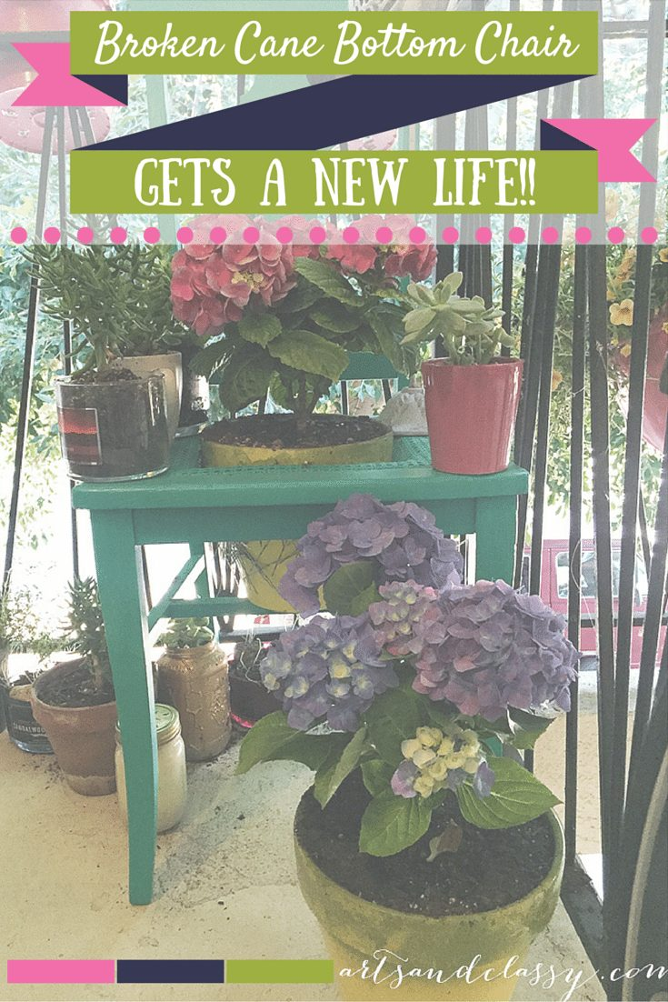 Upcycle Project - Broken Cane Back Chair Gets an New Life as a Planter