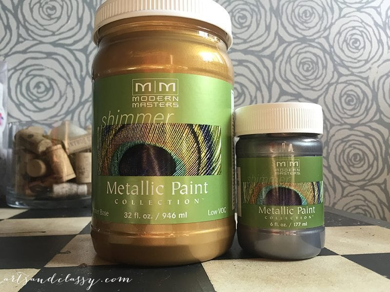 Modern Masters Metallic Paint, Olympic Gold and Pewter