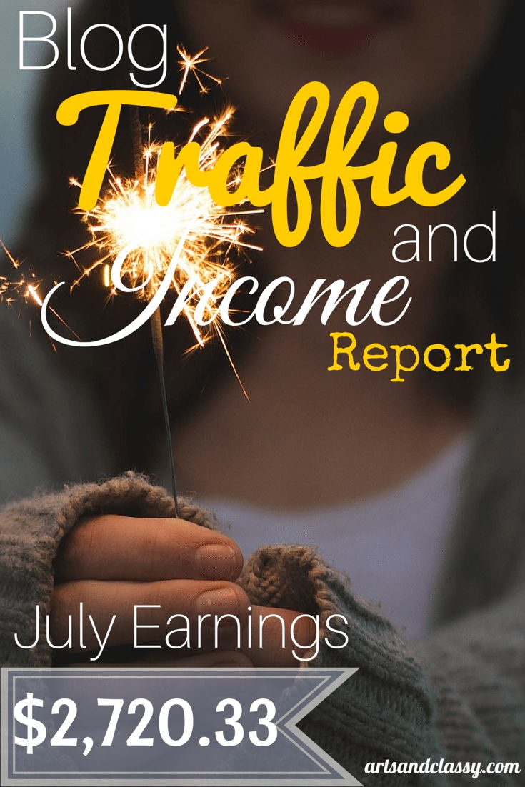 Blog Traffic and Income Report - See how I made $2720.33 in July