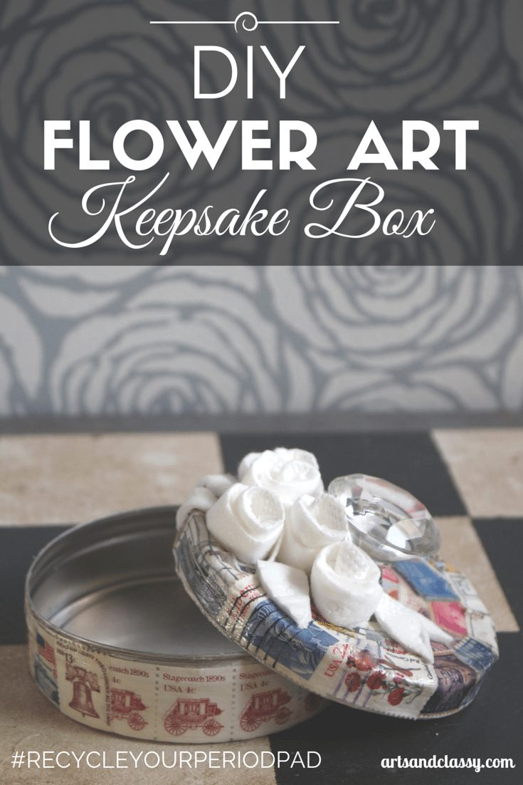 DIY Flower Art Keepsake Box made easily. This would make a perfect gift for a friend via www.artsandclassy.com
