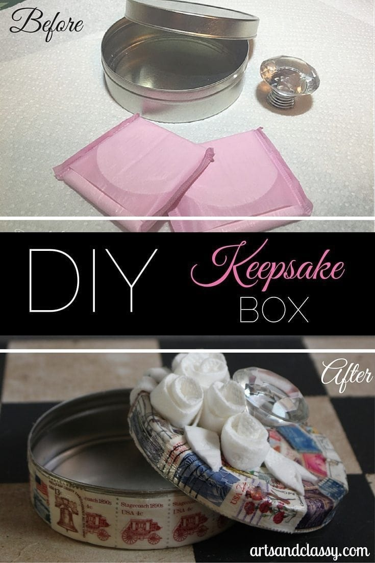 DIY Keepsake Box - Befor and After