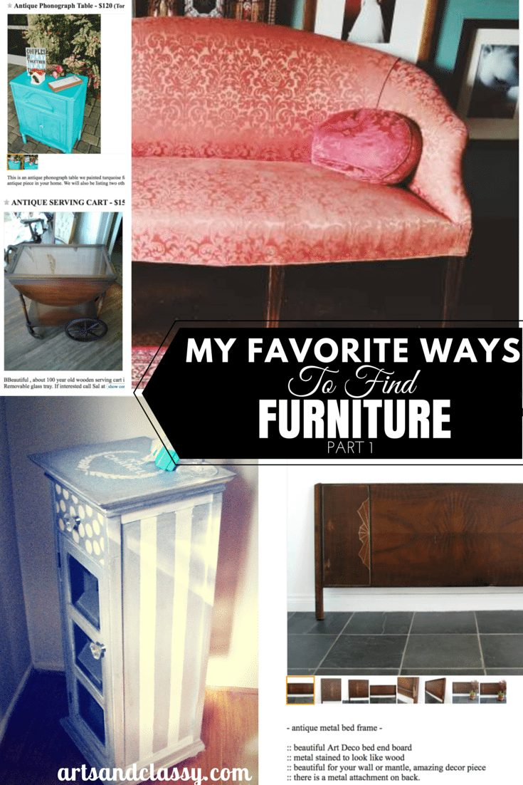 My Favorite Ways To Find Furniture Part 1