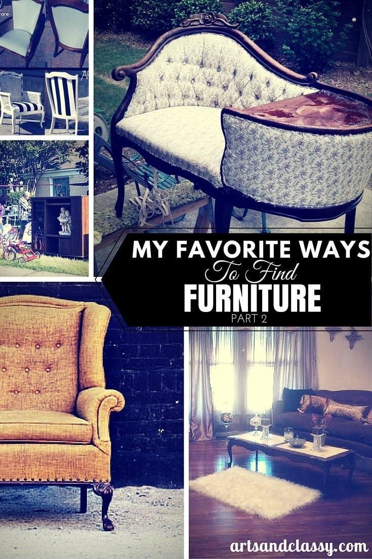 My Favorite Ways To Find Furniture Part 2