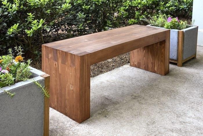 diycandy.com Wood Bench