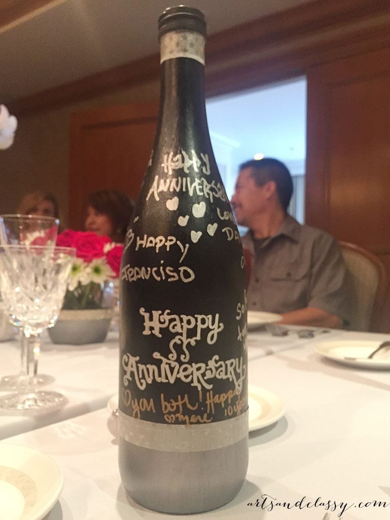 Epic with Andre DIY Guestbook Upcycled Champagne bottle 04