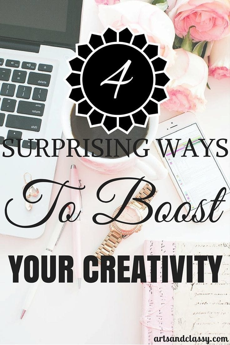 4 Surprising Ways To Boost Your Creativity. Check it out on the blog to learn more