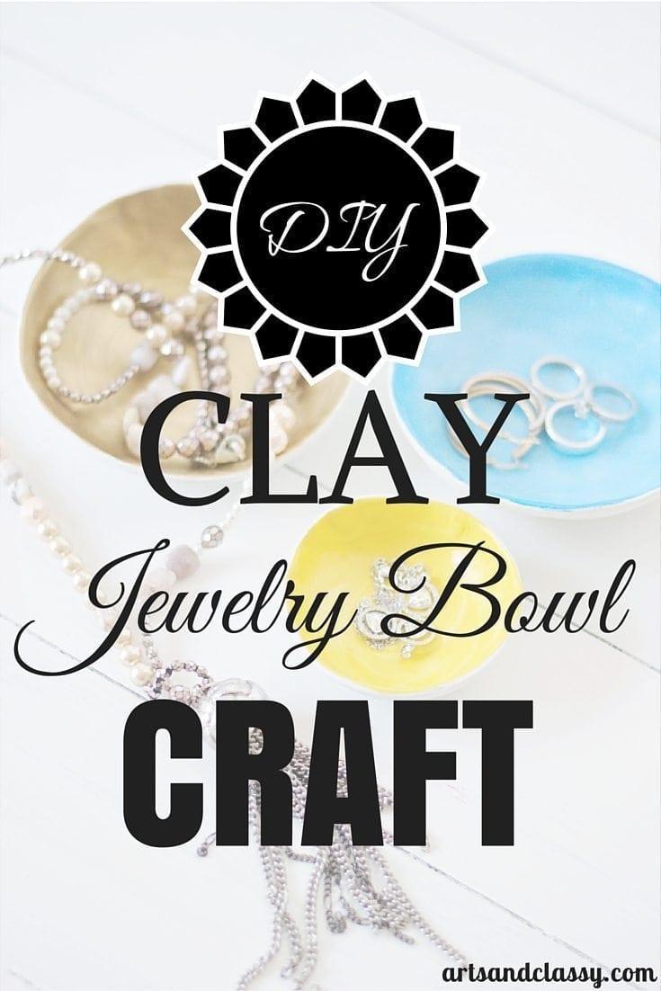 DIY Clay Jewelry Bowl Craft via artsandclassy.com