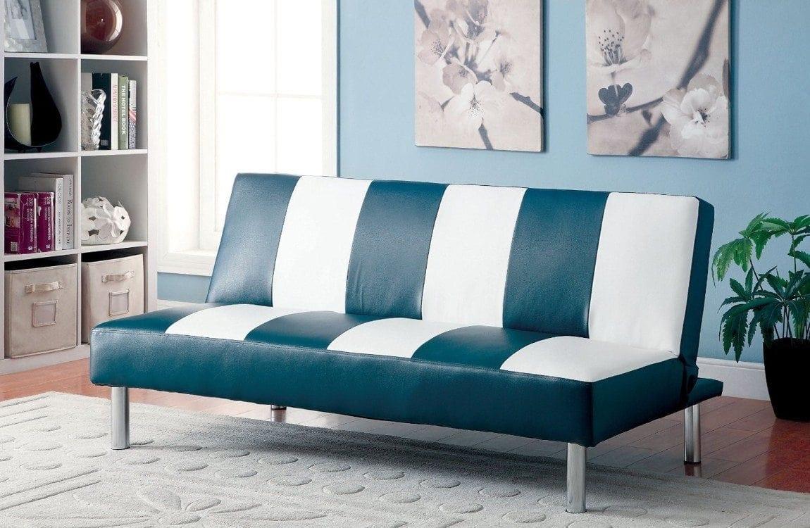 Furniture of America Cordry Leatherette Futon Sofa