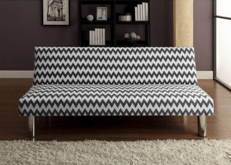 Chevron Futon Sofa
