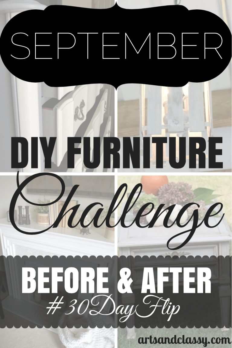 September DIY Furniture Challenge - Before and After #30dayflip