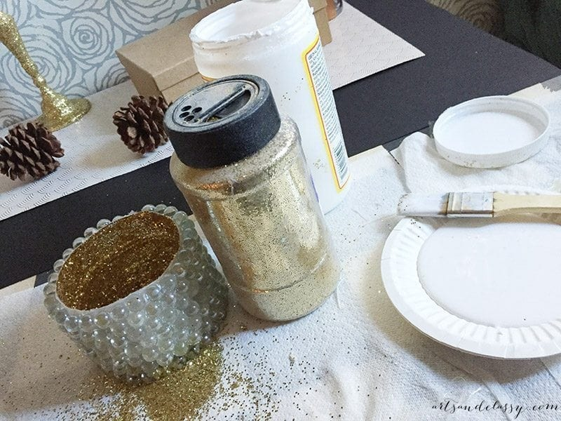 Decking The Halls With This Festive DIY Project - Glam Candle Holder-04