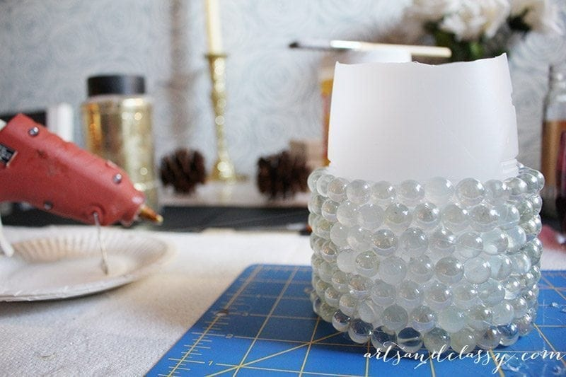 Decking The Halls With This Festive DIY Project - Glam Candle Holder-10