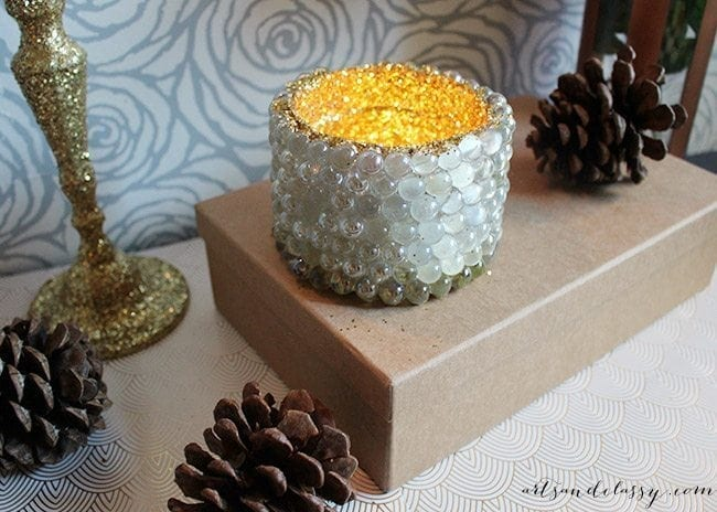 Decking The Halls With This Festive DIY Project - Glam Candle Holder-15