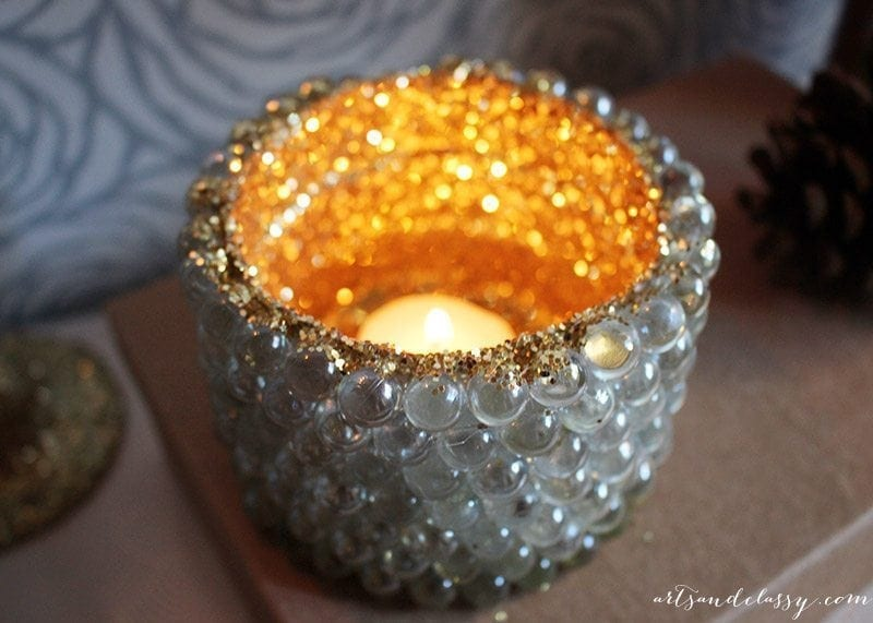 Decking The Halls With This Festive DIY Project - Glam Candle Holder-16