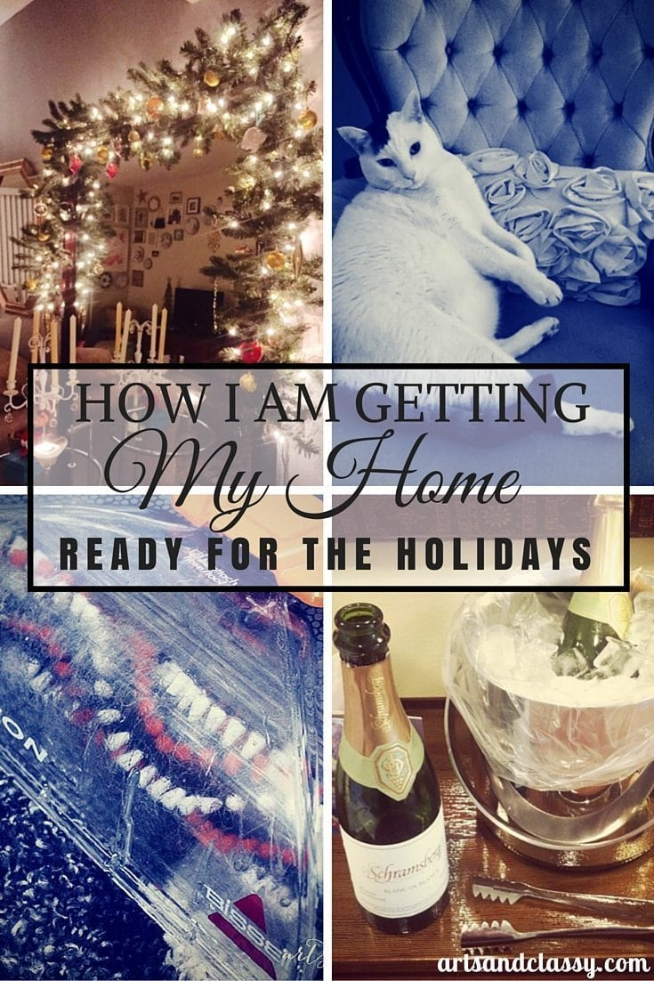 How I am getting my home ready for the holidays via www.artsandclassy.com