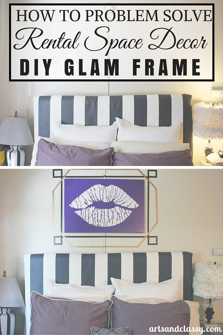 How to problem solve rental space decor with a DIY washi tape frame project via www.artsandclassy.com