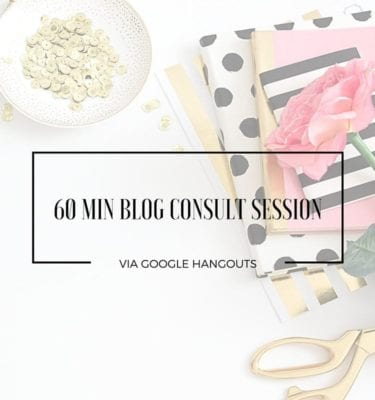 60 Min Blog Consult Session