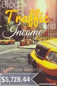 Blog Traffic and Income Report - How I made $5,728.44 in November