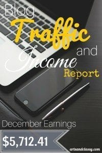 Blog Traffic and Income Report - How I made $5,712.41 in December & End of Year Review