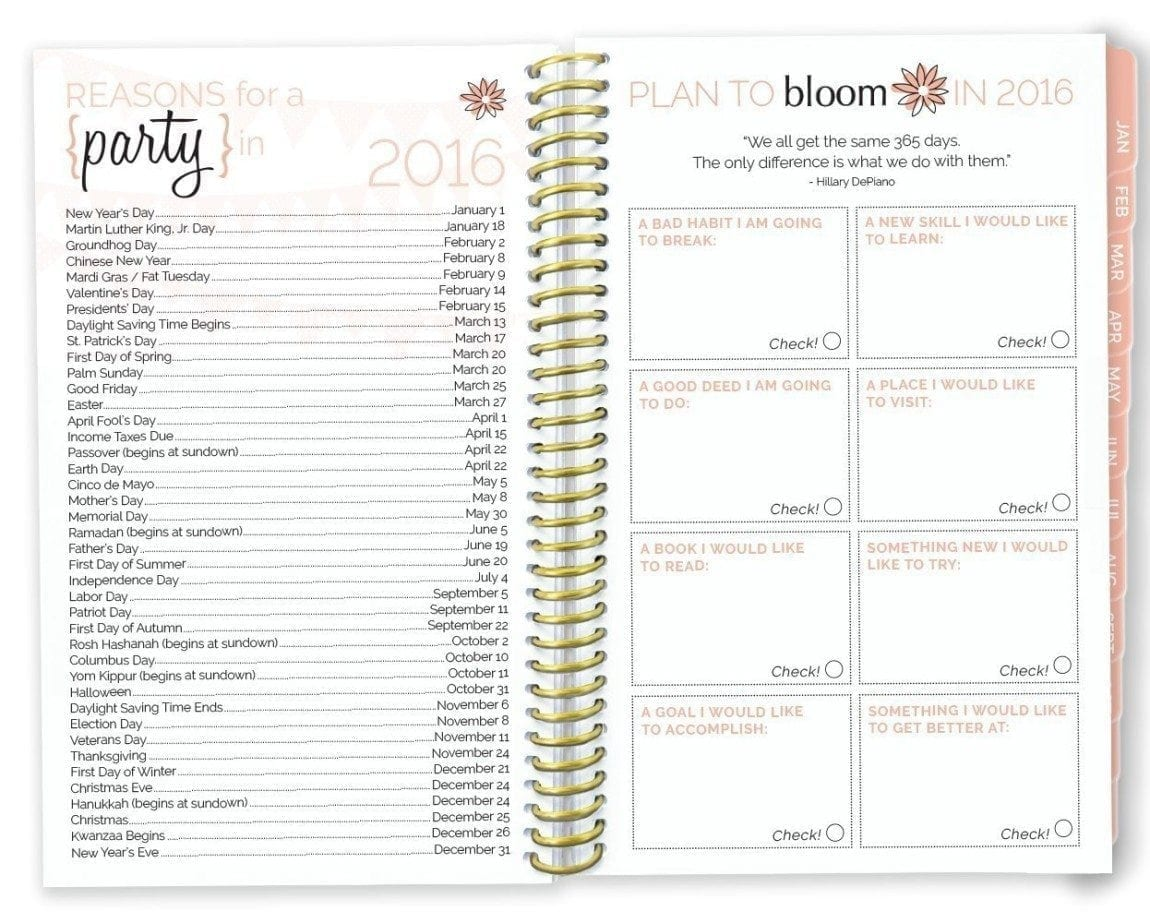 Get Organized For Success in 2016 - Planner Guide | Arts and Classy