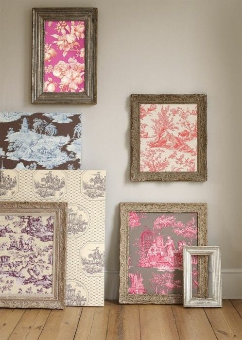 DIY art with wallpaper samples for your room design