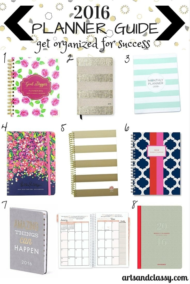 Get Organized For Success in 2016 - Planner Guide