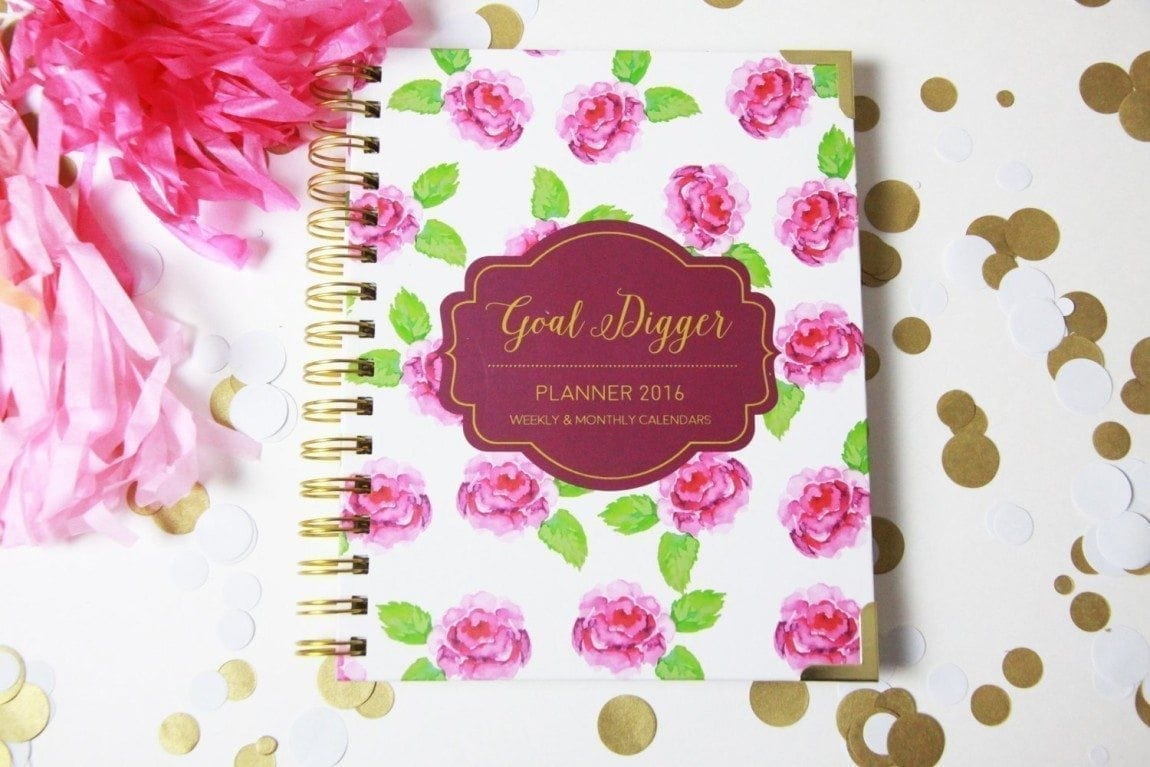 Goal Digger Planner 2016 Gold Design Weekly:monthly 6 X 8 Planner - Success Agenda Jan-dec 2016 - Goals : Dreams : Plans