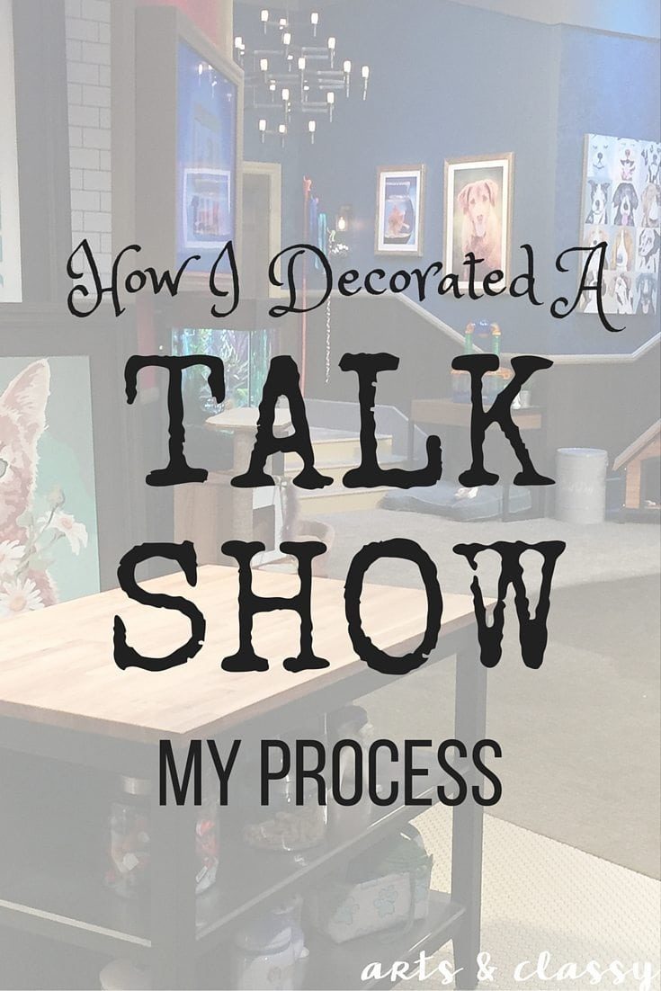 My Process For Decorating A Talk Show