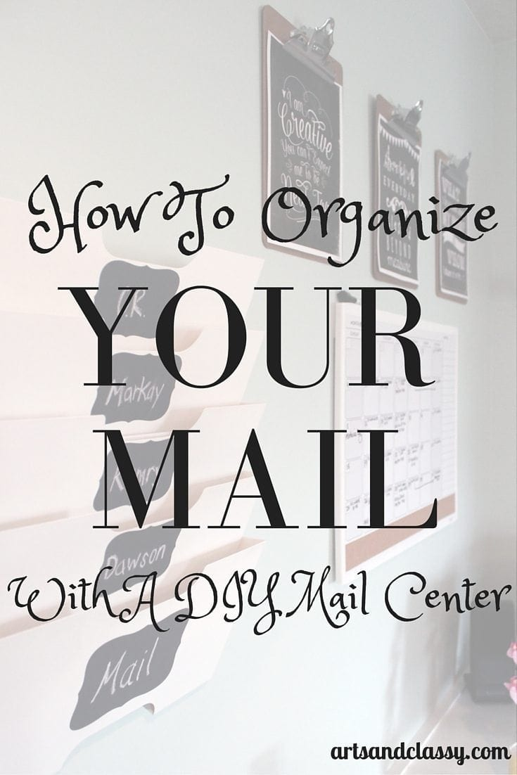 How to organize your mail with a DIY mail center