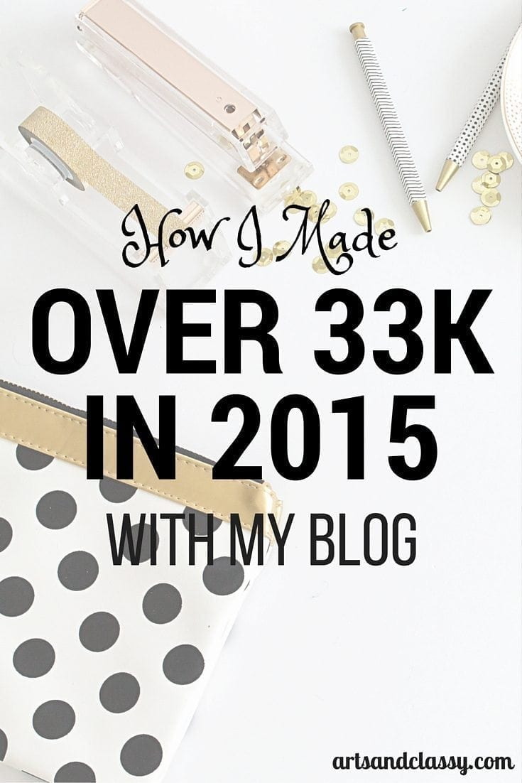 Learn How I Made Over 33k in 2015 with my blog