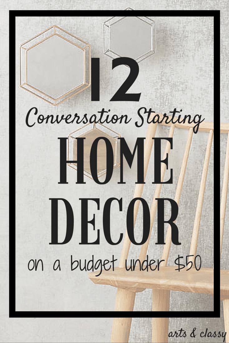 12 Conversation Starting Home Decor Under $50 - Smart budget friendly decor