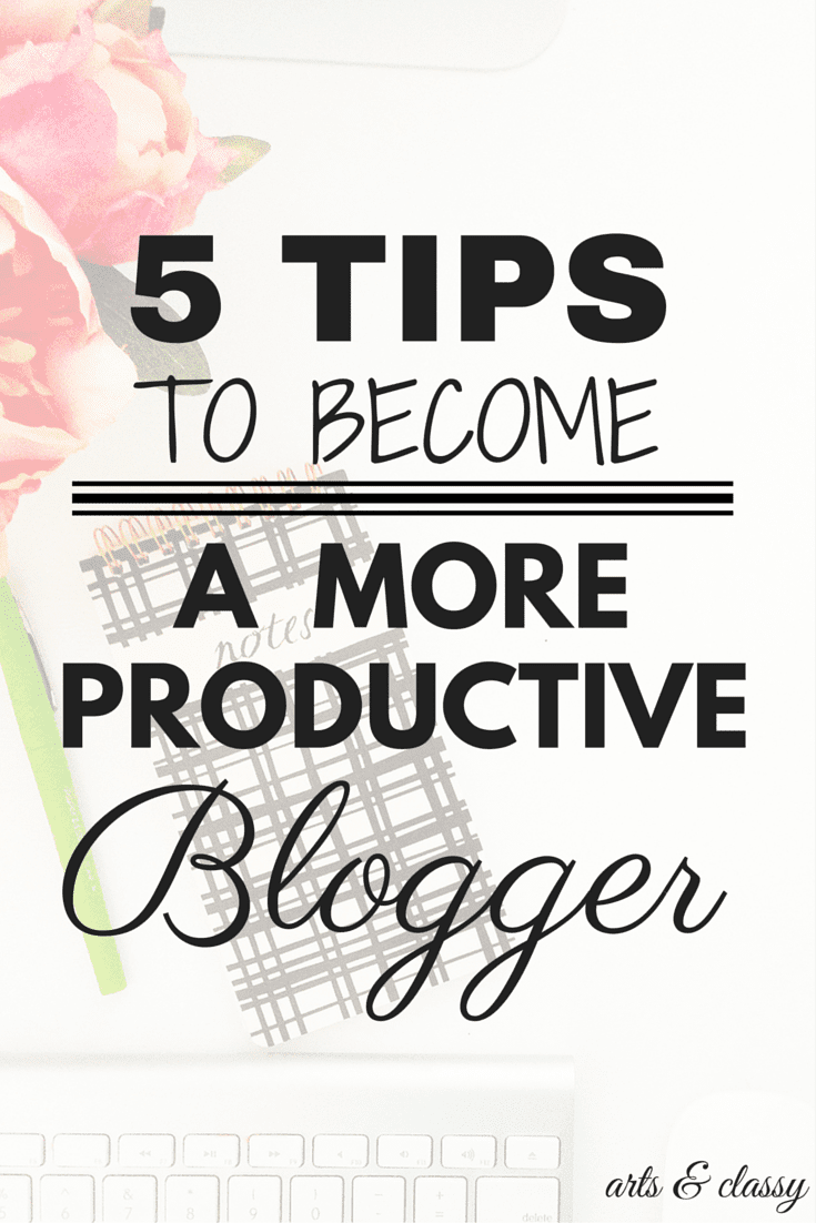5 Tips to beomce a more productive blogger from a professional blogger of 4 years.