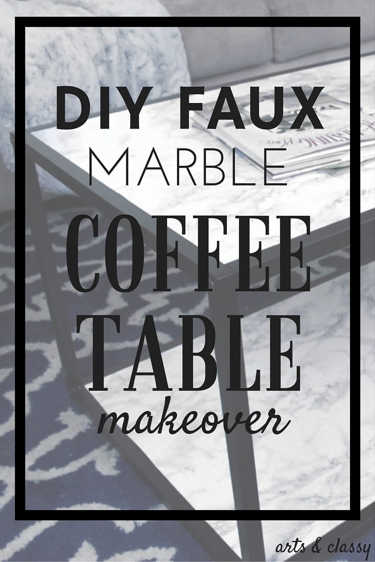 DIY Faux Marble Coffee Table Makeover