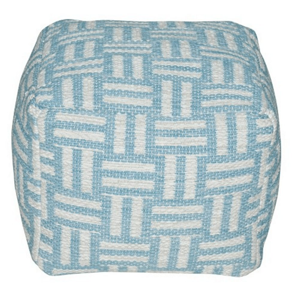 "Threshold™ 16""LX16""WX14""H Hand Woven Cotton Pouf"