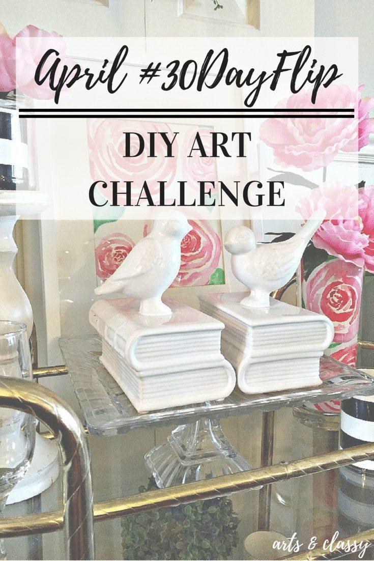 APRIL #30dayflip DIY Art Challenge Results