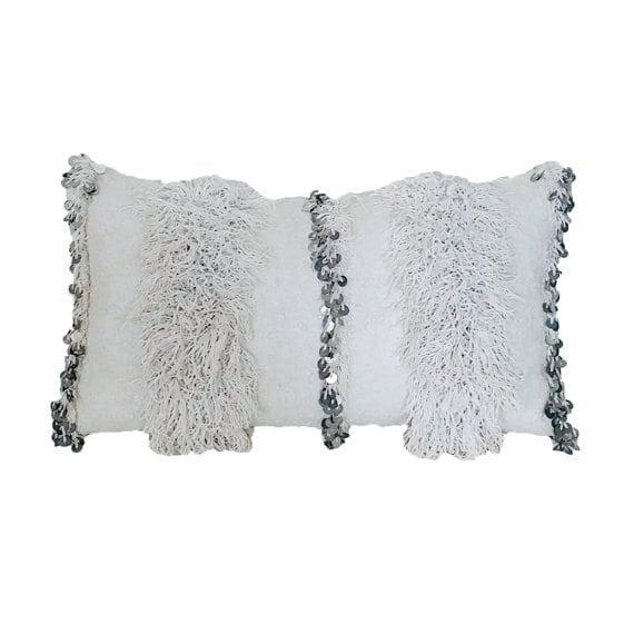Moroccan Wedding Blanket Pillow :: handmade from vintage handira