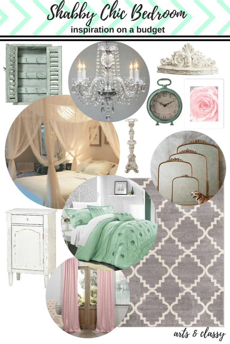 Shabby Chic Bedroom inspiration on a budget with love
