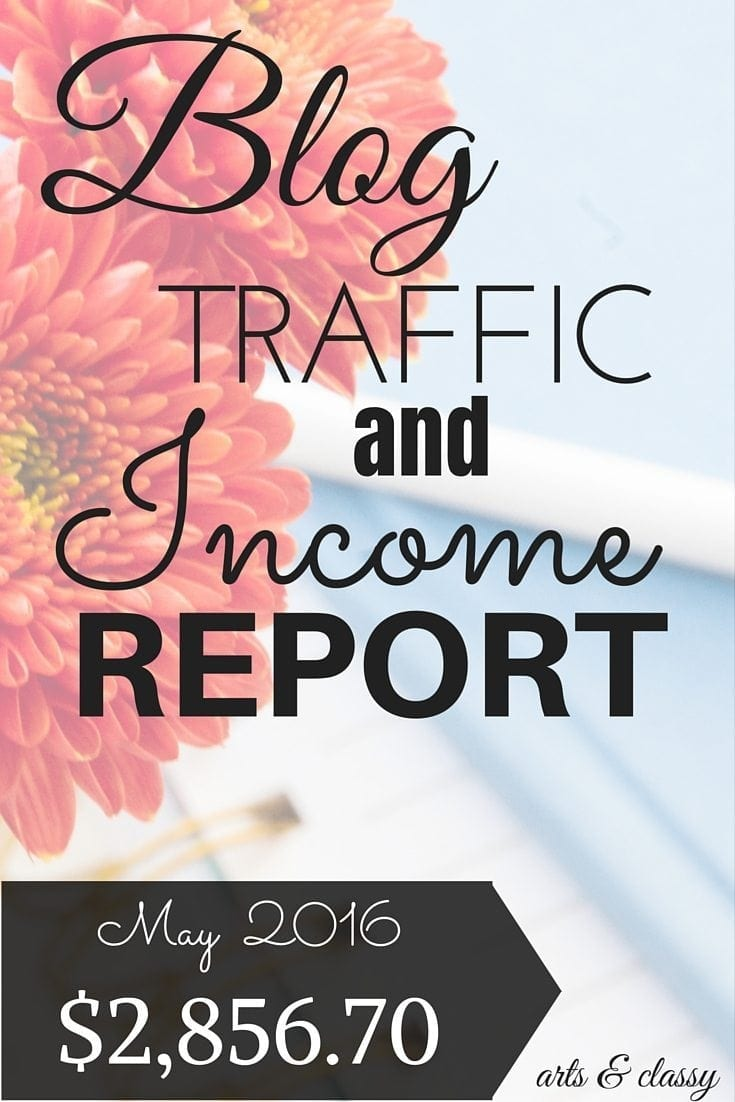 Blog Traffic and Income Report for May 2016. Learn how I made $2,856.70 from my blog this month
