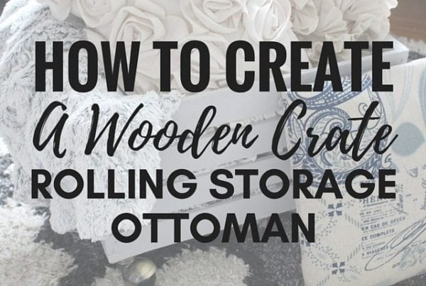 How to create a wooden crate rolling storage ottoman