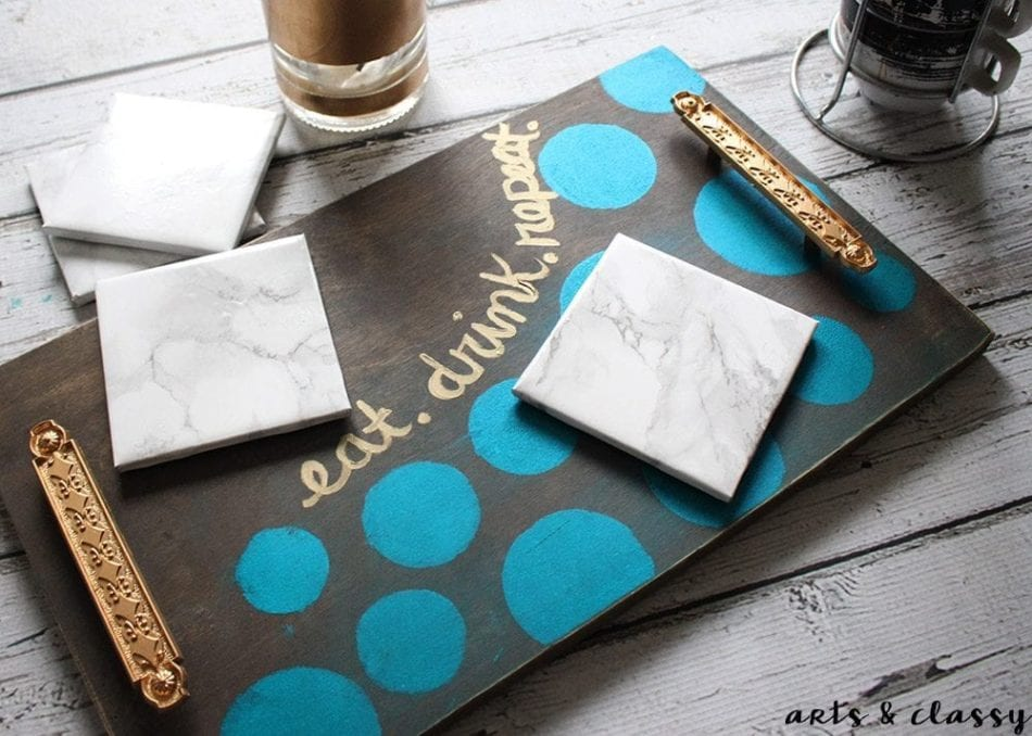 DIY Coffee Serving Tray and Marble Coaster Tutorial 1