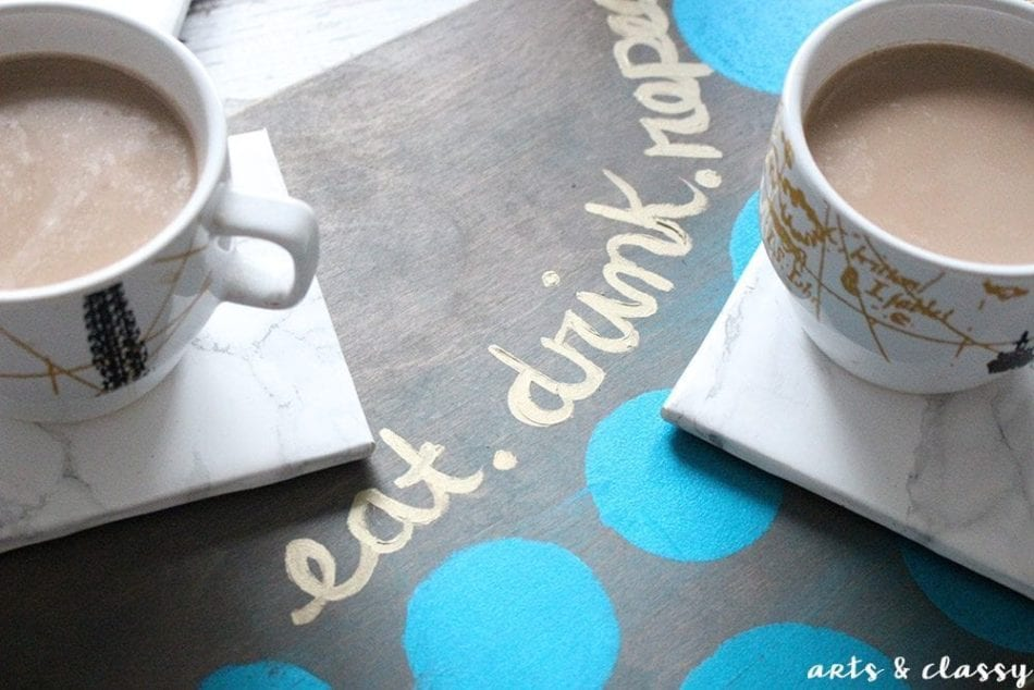 DIY Coffee Serving Tray and Marble Coaster Tutorial 4