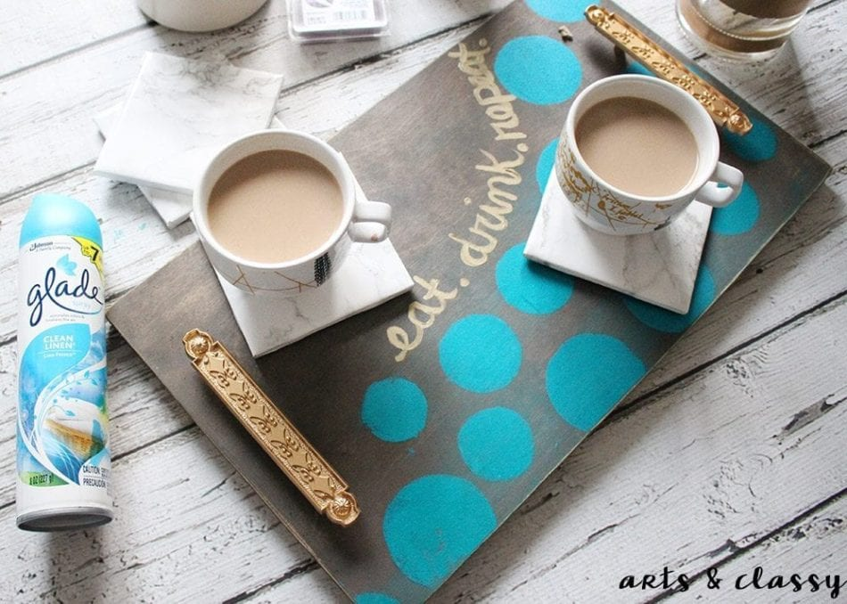 DIY Coffee Serving Tray and Marble Coaster Tutorial 5