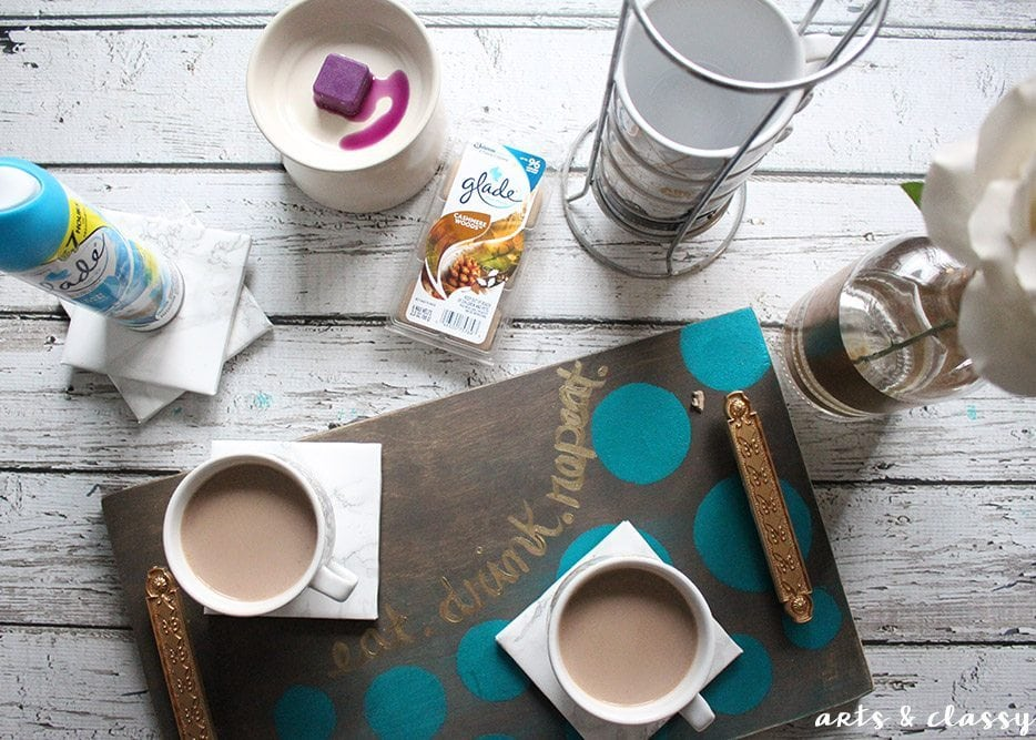 DIY Coffee Serving Tray and Marble Coaster Tutorial 6