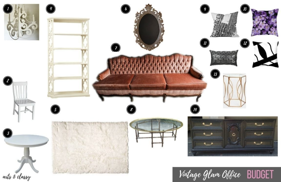 vintage-glam-office-on-a-budget