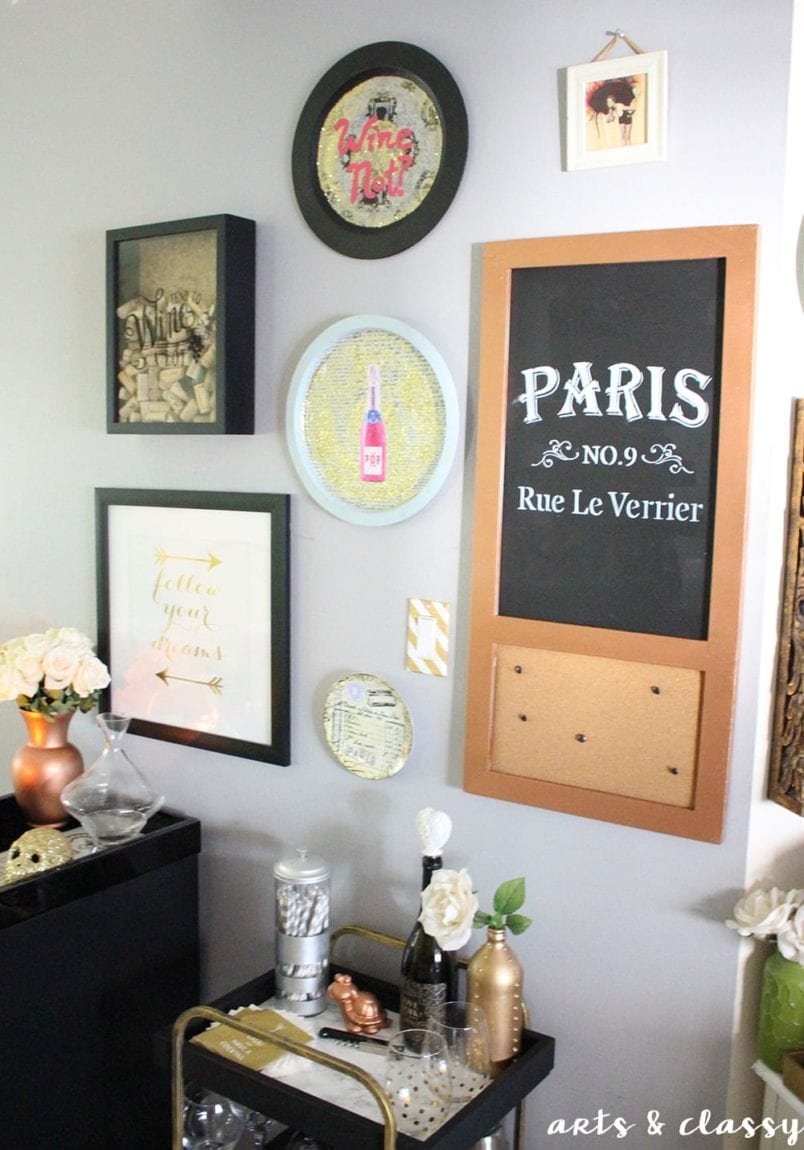 How to Make an Elegant Wine Bar in a Small Rental Kitchen | Arts and ...